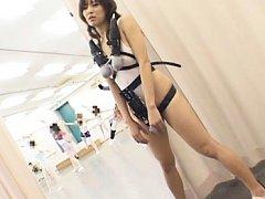 Natsumi Horiguchi's body has vibrators attached to...