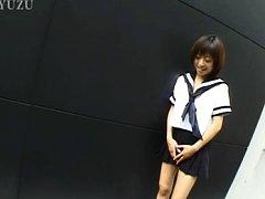 Rina Asian doll in sailor girl uniform can't wait...