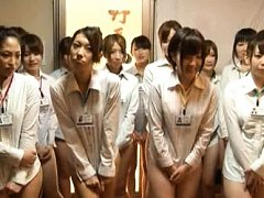 Japanese AV Model and chicks in shirts only covers...