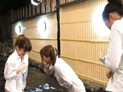 Japanese AV Model in shirt is roughly treated and...