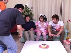 Japanese AV Model house keeper is fondled and gets...