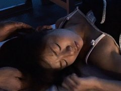Japanese AV Model is touched on hot behind while s...