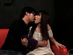 Japanese AV Model is horny and kisses dude after a...