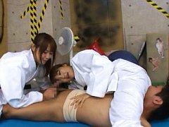 Japanese AV Model and nymphet lick fellow nipples...