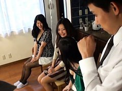 Japanese AV Model and babes reveal jugs and puts t...
