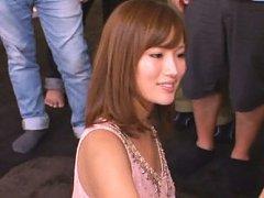 Kokone Mizutani Asian in cute dress strokes dong i...