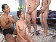 Sexy Akari Asahina swallowing delicious rods and g...