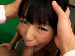 Mako Higashio Asian with hot tits is fucked in mou...
