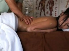 Japanese AV Model is fondled with oil on body and...