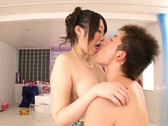 Japanese AV Model has nipples sucked and squeezed...