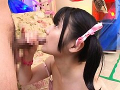 Japanese AV Model in pink dress is fingered and su...