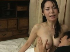 Japanese AV Model has cans fondled over blouse and...