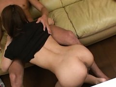 Maika Asian shows butt while sucking dick and has...