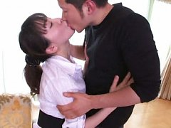 Meisa Chibana Asian is touched over boobs and spre...