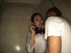 Miwako Yamamoto Asian has big boobs showered over...