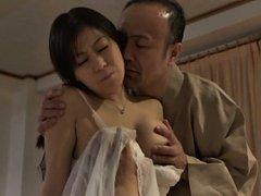Chihiro Akino Asian has big assets fondled and rid...
