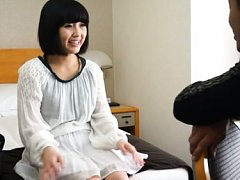 Japanese AV Model is kissed on sexy back and has t...