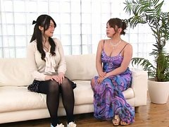 Japanese AV Model with huge cans takes dress off f...