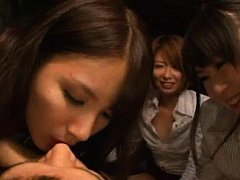 Japanese AV Model and doll suck cock and play with...