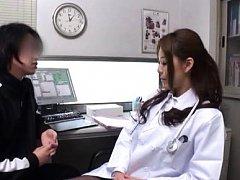Japanese AV Model doctor shows her sexy legs to yo...