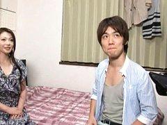 Japanese AV Model in cute dress is caught on camer...