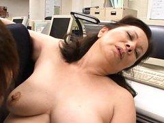 Chizuru Iwasaki Asian has big chest sucked and squ...