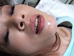 Nami Oumi Asian has hands tied and is pumped in tw...