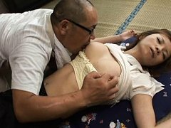 Suimire Matsu Asian gets vibrator from behind whil...