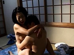 Makiko Miyashita Asian has nasty tits sucked while...