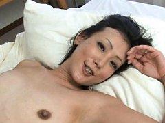 Ayumi Takanashi Asian gets cum on juicy boob with...