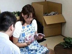 Japanese AV Model with specs still knows to flirt...