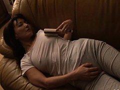Hotaru Yamakawa Asian teases her nipples with brus...