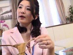 Japanese AV Model takes man thong off because she...