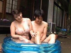 Yukari Orihara Asian chubby in lingerie joins man...