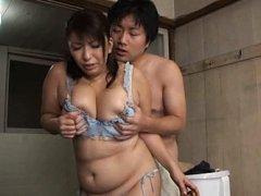 Yukari Orihara Asian has huge jugs fondled by man...