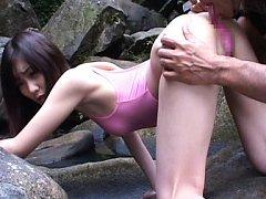 Koharu Tachibana has asshole licked sitting doggy...