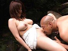 Meguru Kosaka Asian with big jugs licked and squee...