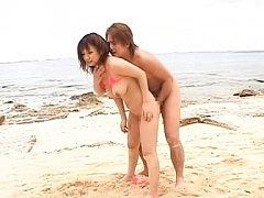 Meguru Kosaka Asian takes cock between big boobs o...