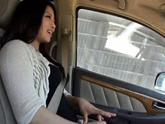 Rie Suzumiya Asian has juicy knockers touched by m...