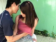 Ayano Umemiya Asian has twat rubbed on thong and t...