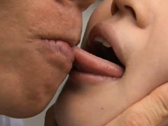 Sae Aihara Asian in uniform is kissed by dude afte...