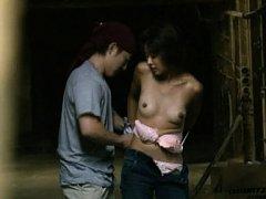 Japanese AV Model has boobies fondled by man takin...