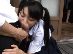 Sae Aihara Asian in uniform is doggy fucked and su...