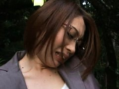 Japanese AV Model in office suit is fondled on hot...