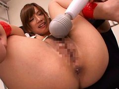 Kokone Mizutani Asian is tied and aroused with vib...