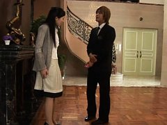 Mio Kitagawa Asian house keeper takes clothes off...