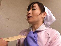 Yuu Kawakami Asian cleaning woman gets the payment...