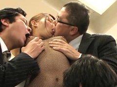 Chihara Nakai Asian has big hooters licked over fi...