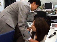 Japanese AV Model in cute office suit has hot ass...