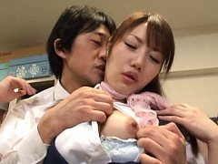 Japanese AV Model has love box land nipples licked...